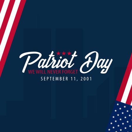 애국 하루 배경입니다. 9 월 11 일. 잊지 못할 것입니다.