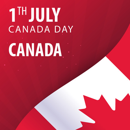 Canada day. Flag and Patriotic Banner. Vector illustration Ilustrace