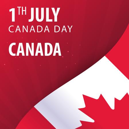 Canada day. Flag and Patriotic Banner. Vector illustration Illustration