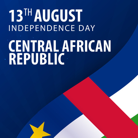 Independence day of Central African Republic. Flag and Patriotic Banner. Vector illustration Иллюстрация