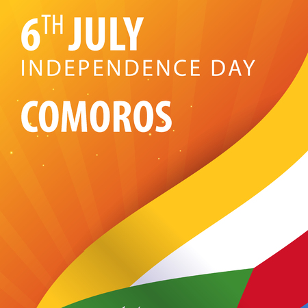 Independence day of Comoros. Flag and Patriotic Banner. Vector illustration Illustration