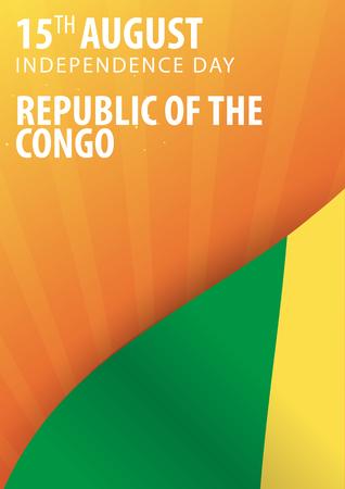 Unabhängigkeitstag der Republik Kongo. Flagge und patriotische Banner Standard-Bild - 84274636