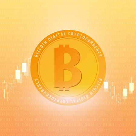 metal net: Bitcoin. Digital Cryptocurrency Mining Farm. Technology banner