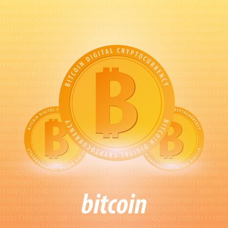 Bitcoin. Digital Cryptocurrency Mining Farm. Technology banner