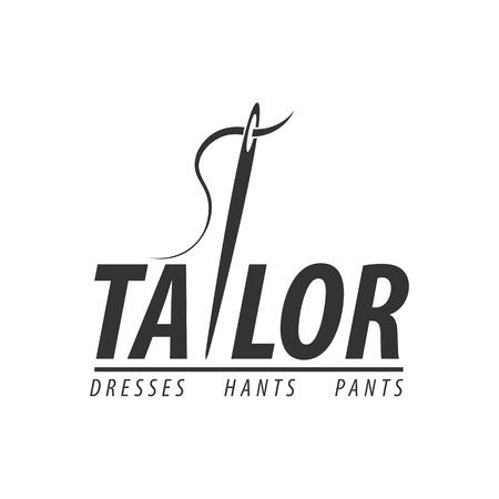 Tailor, sewing, handmade logo or emblem Vector illustration. Illustration