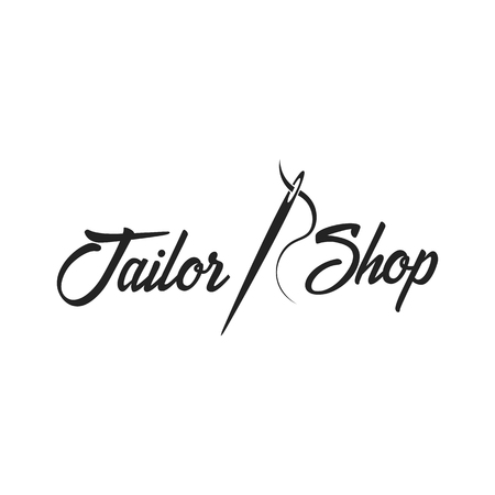 Tailor, sewing, handmade logo or emblem Vector illustration Illustration