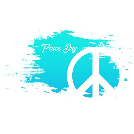 Bannière de la Journée internationale de la paix 21 septembre. Illustration vectorielle