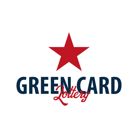 Green Card Lottery logo or emblem. Immigration and Visa to the USA