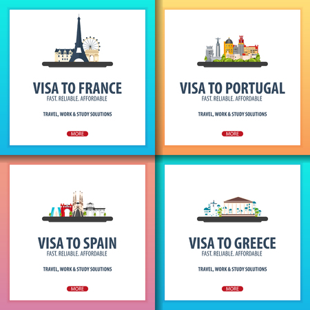 Visa to France, Portugal, Spain, Greece. Document for travel Visa application centre