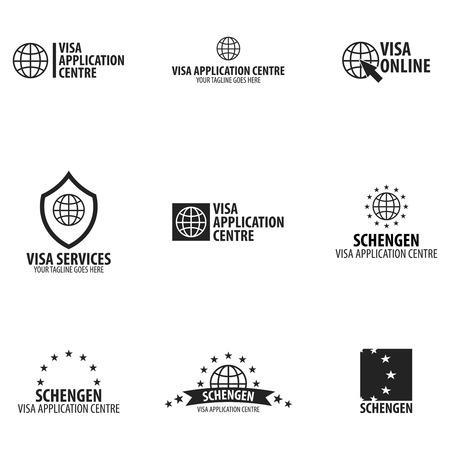 Logotipo del centro de solicitud de Visa. Ilustración del vector Foto de archivo - 85436531
