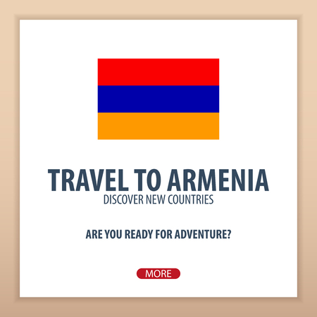 web site design template: Travel to Armenia. Discover and explore new countries. Adventure trip