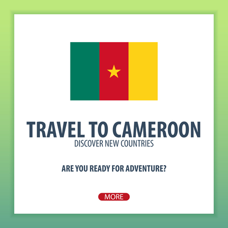 Travel to Cameroon. Discover and explore new countries. Adventure trip Illustration
