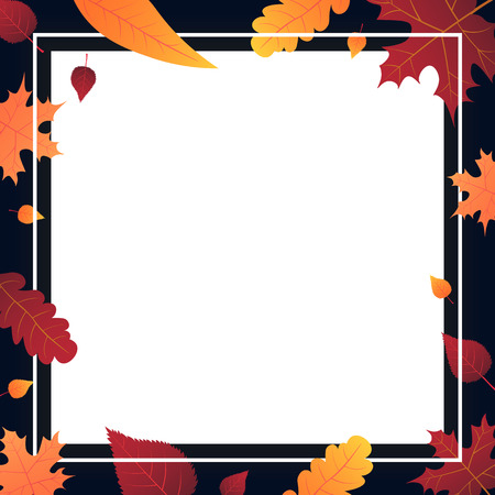 Autumn Background with leaves for shopping sale or promo poster and frame leaflet or web banner. Vector illustration template Stok Fotoğraf - 85767089