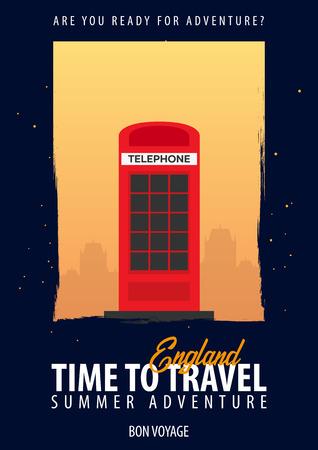 Engeland. Tijd om te reizen. Reis, reis, vakantie Je avontuur Bon Voyage