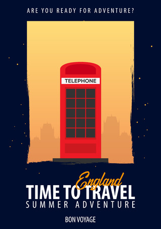 England. Time to Travel. Journey, trip, vacation Your adventure Bon Voyage