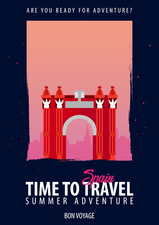 Spain, Europe. Time to Travel. Journey, trip vacation Your adventure Bon Voyage