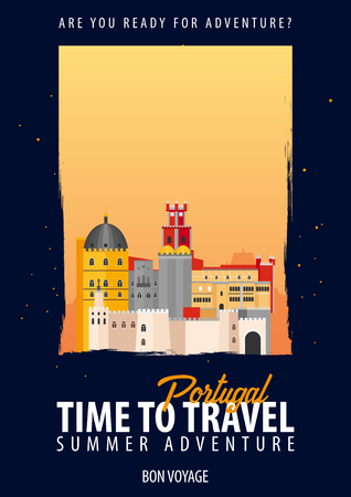 Portugal, Europe. Time to Travel. Journey, trip vacation Your adventure Bon Voyage