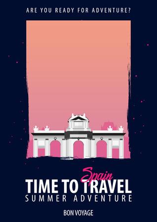 スペイン、ヨーロッパ。時間旅行。旅、旅行あなたのボンヴォヤージュの冒険の休暇