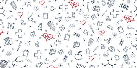 Antécédents médicaux Soins médicaux. Soins de santé. Illustration de la médecine vectorielle