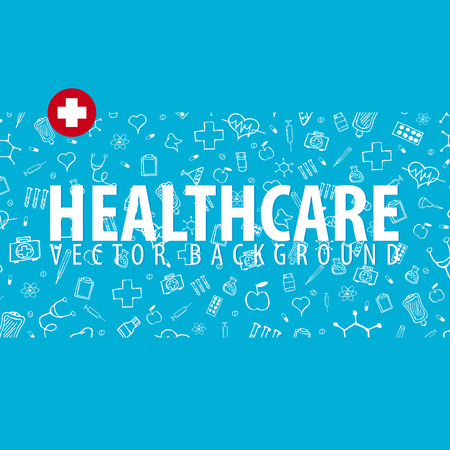 Medical background. Health care. Vector medicine illustration