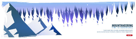 Extreme sports banner design illustration. 일러스트