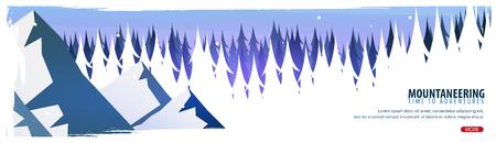 Extreme sports banner design illustration. Stock Illustratie