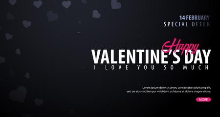 Valentines day sale background. Wallpaper, flyers, invitation, posters, brochure voucher banners Vector illustration Vetores