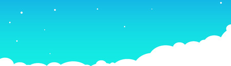 Clouds on a blue sky background. Vector illustration