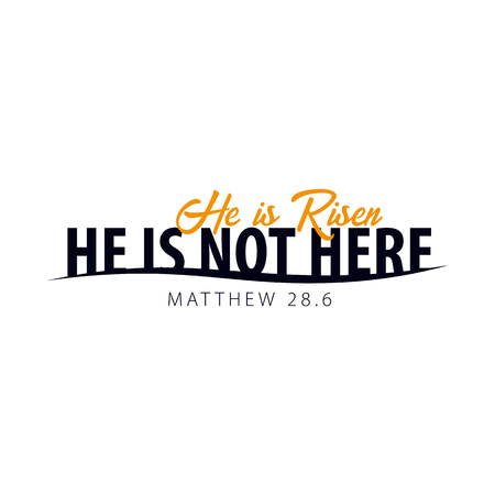 He is Risen. Church easter icon, emblem, labels or stickers. Vector graphics