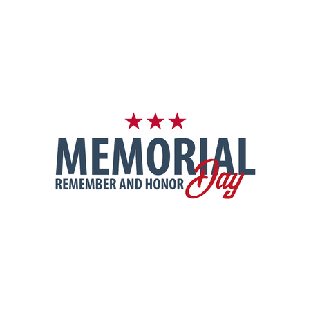 阵亡将士纪念日。记得和荣誉。美国。美国国旗