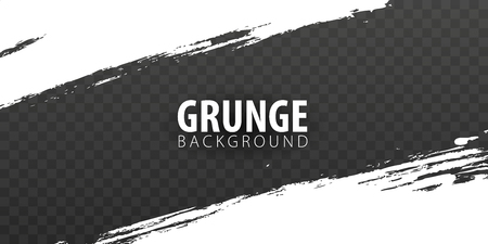 White isolated grunge on dark transparent background. Vector illustration 矢量图像