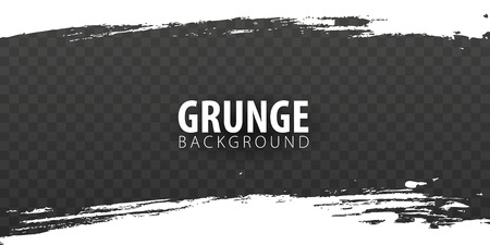 White isolated grunge on dark transparent background. Vector illustration Illustration