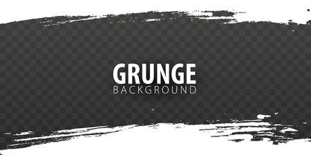 White isolated grunge on dark transparent background. Vector illustration Ilustrace