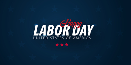 Labor Day sale promotion, advertising, poster, banner, template with American flag. American labor day wallpaper. Voucher discount.