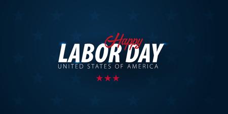Labor Day Verkaufsförderung, Werbung, Plakat, Banner, Vorlage mit amerikanischer Flagge. Amerikanische Arbeitstag Tapete. Gutscheinrabatt.