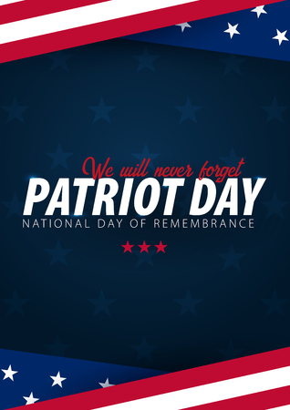 Patriot day promotion, advertising, poster, banner, template with American flag. American patriot day wallpaper Stock Photo