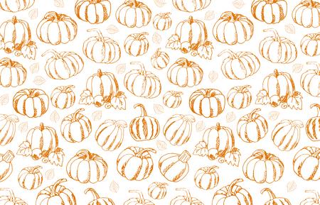 Autumn Backgrounds with Pumpkin for shopping sale, promo poster and frame leaflet, web banner. Vector illustration template Illustration