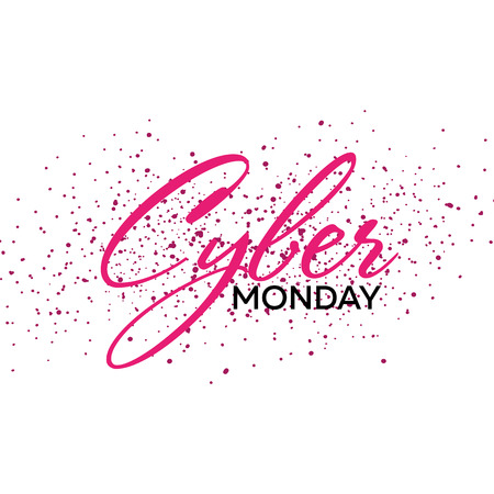 Cyber Monday Sale Calligraphic banner. Vector Illustration