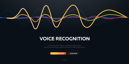 Voice Recognition System and Personal assistant. Voice Biometrics. Sound Wave