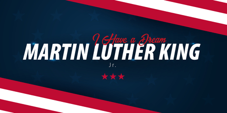 Martin Luther King day background. I have a dream. Vector illustration Illustration