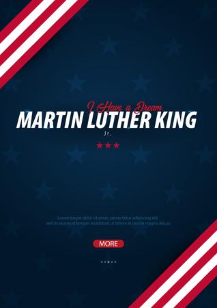 Martin Luther King day background. I have a dream. Vector illustration Illustration