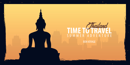 Thailand. Time to Travel banner. Vector illustration