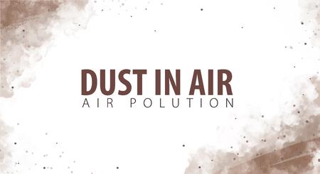 Dust in Air. Dust hazard. Polluted air. Vector Illustration