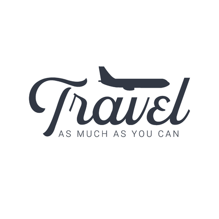 Travel  template with airplane. Vector illustration.