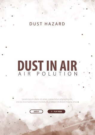 Dust in Air. Dust hazard. Polluted air. Vector Illustration