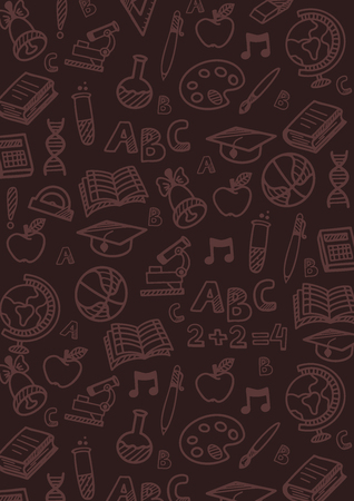 Back to School banner with hand draw doodle background. Vector illustration