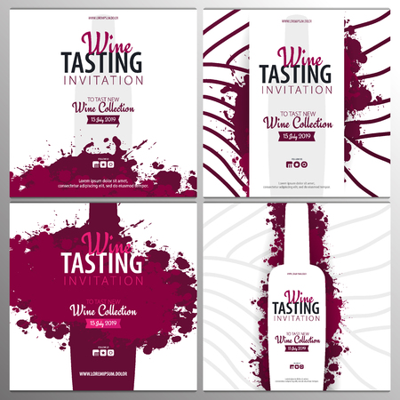 Wine tasting. Template for promotions or presentations of wine events. Foto de archivo - 124575157