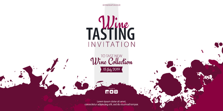 Wine tasting. Template for promotions or presentations of wine events. Illustration