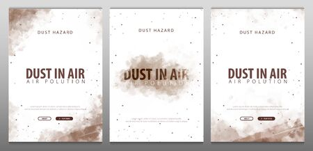 Dust in Air. Dust hazard. Polluted air. Vector Illustration. 写真素材 - 124867370