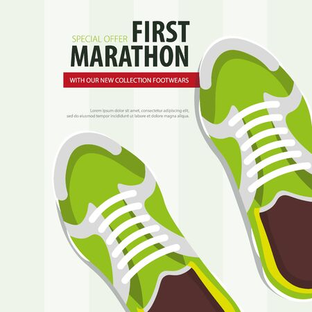 Sport Shoes. Sneakers New collection. Vector illustration Illustration
